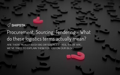 Procurement, sourcing, tendering: What do these logistics terms actually mean?