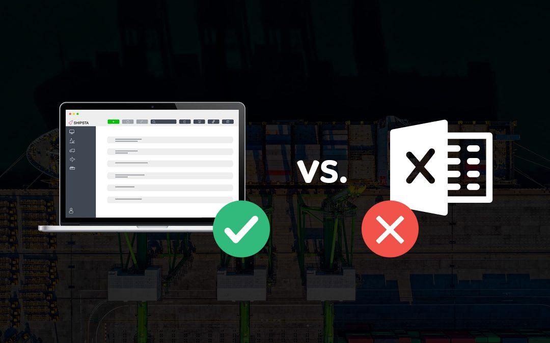 SHIPSTA Frachtausschreibungen mit Excel