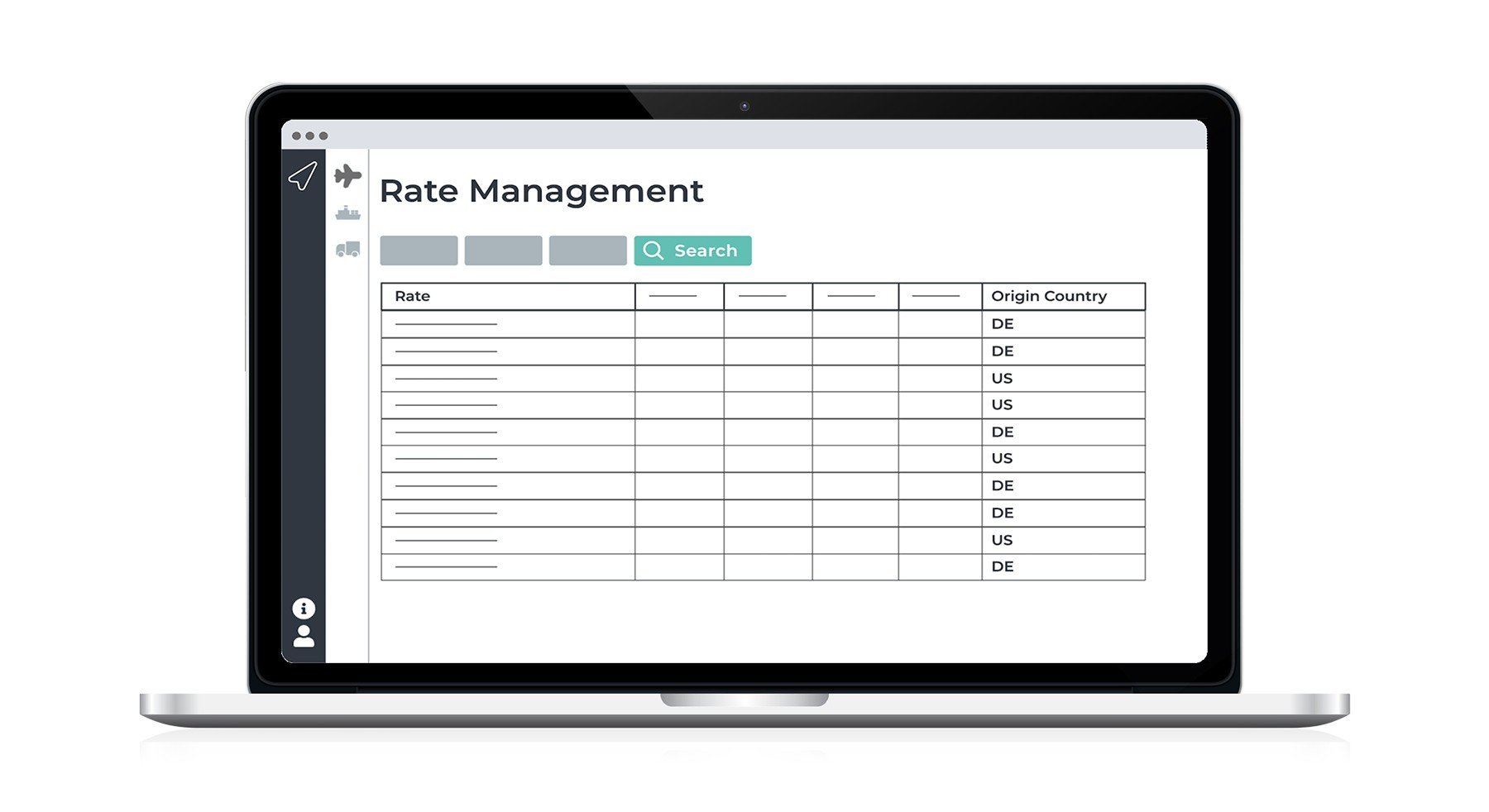 SHIPSTA Rate Management